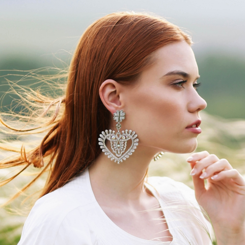 Nacre hearts earrings - Limited edition