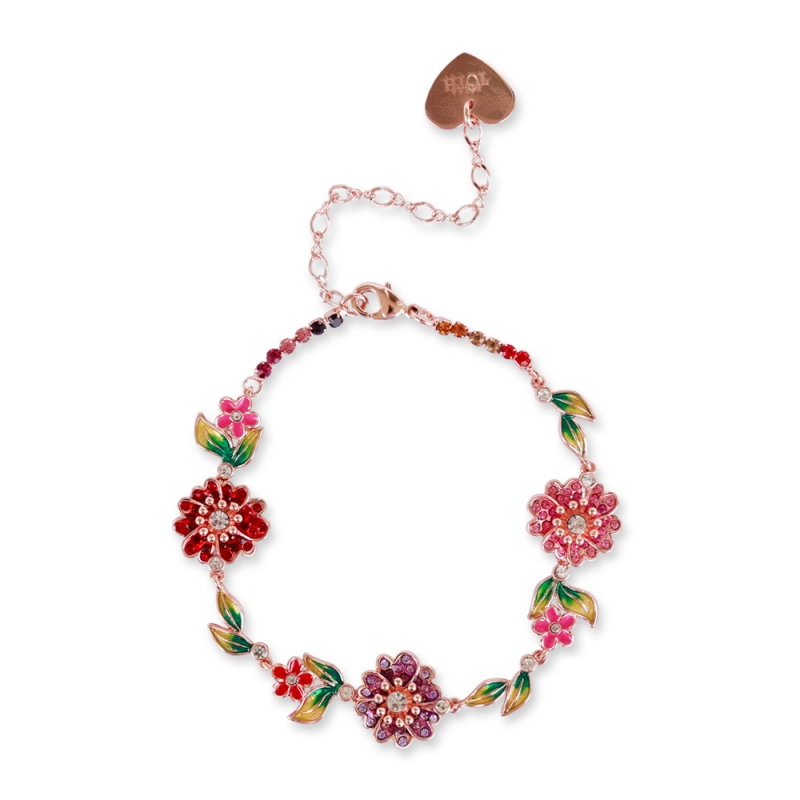 Bracelet chain of flowers