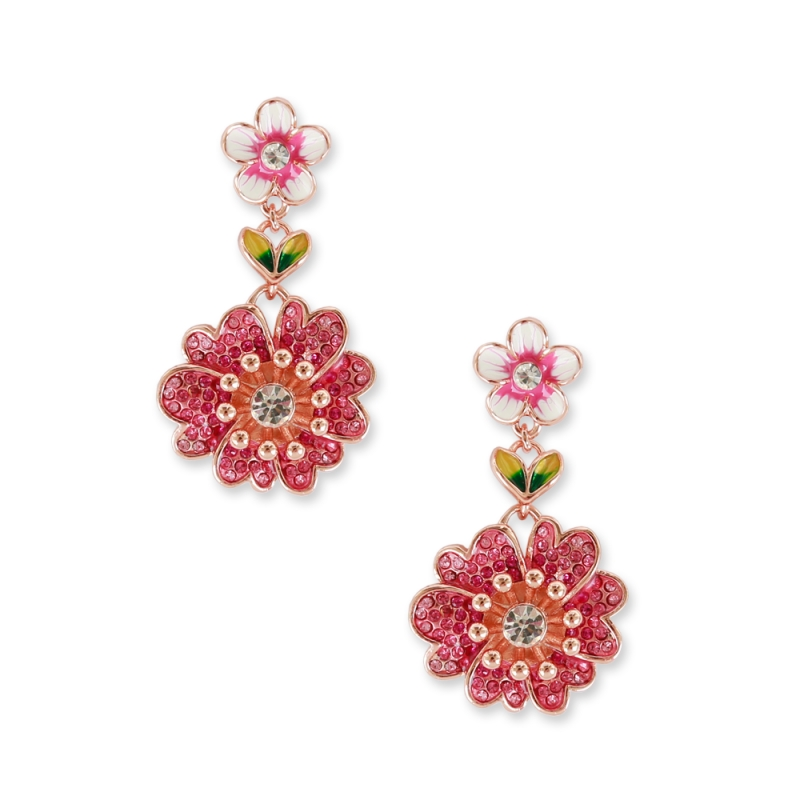 Pink earrings Briar-rose