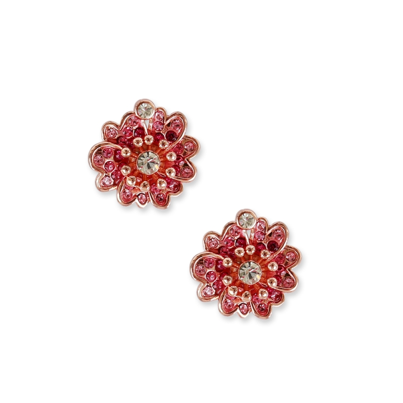 Pink earrings flowers