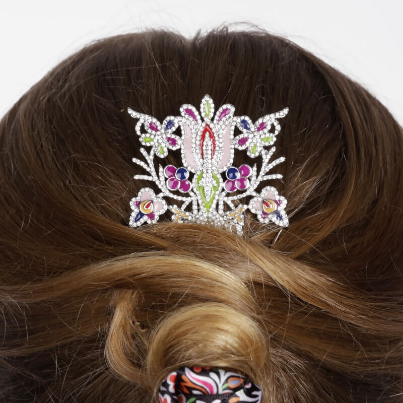 Hair slide flowers