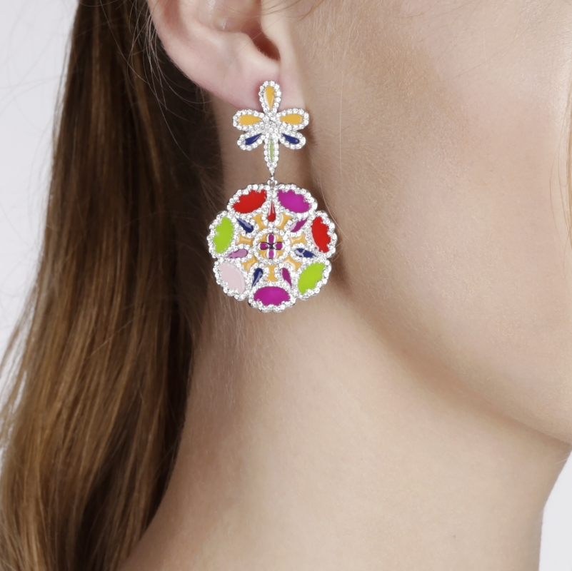 Earrings Hydrangea
