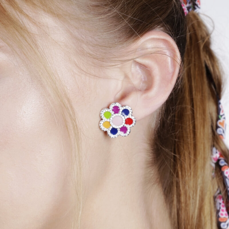 Earrings Daisies
