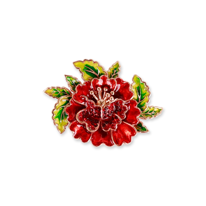 Red flower ring