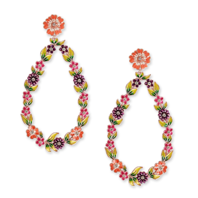 Earrings meadow flowers