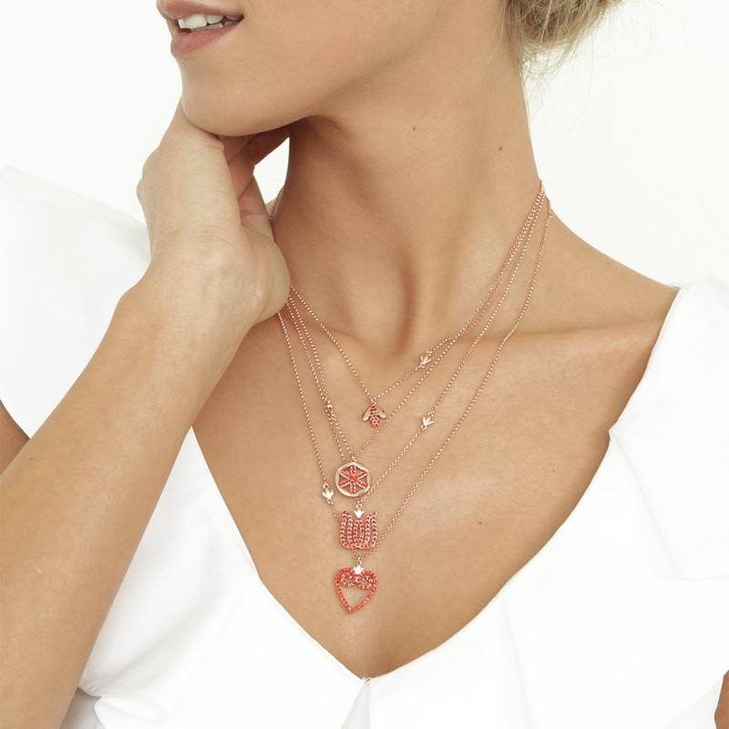 Necklaces with Red Crystals