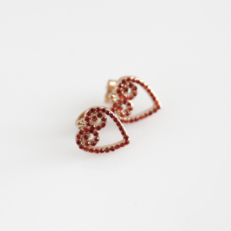 FOLKIE red heart stud earrings Mileva