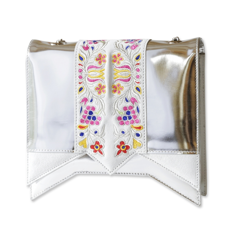 Silver shoulder bag Sarra